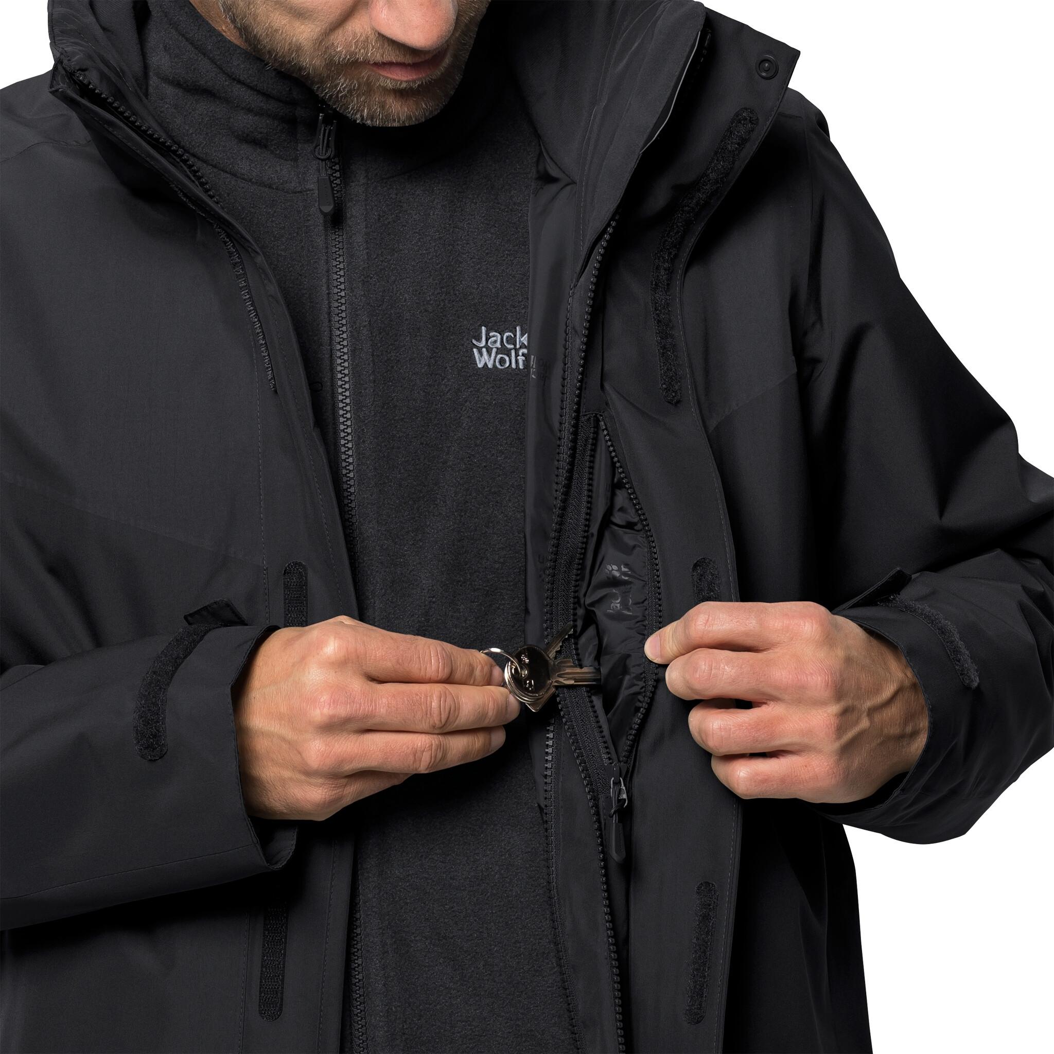 quality design 064a2 458d1 Jack Wolfskin Arland 3in1 Jacke Herren black